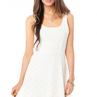 Delfina Lace Dress in Ivory - ShopSosie.com