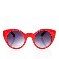 Cat Eye Circle Shades in Red - ShopSosie.com