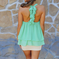 RESTOCK: Island Time Tank: Mint Green | Hope&#x27;s