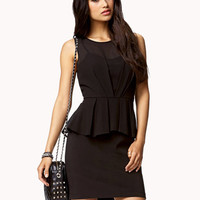 Chiffon Peplum Dress