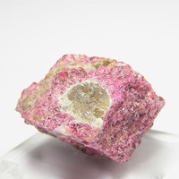 Ultra Rare Vlasovite Gittensite in Eudialyte Mineral Specimen Kipawa Quebec