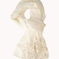 Embroidered Lace-Paneled Scarf | FOREVER 21 - 1035306738