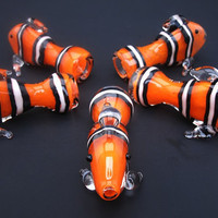 Clown Fish Handblown Glass Straight Pipe by InfernoValley on Etsy
