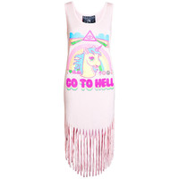 Go To Hell Fringe Dress [PP] | KILLSTAR