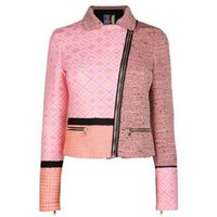 Mixed Jacquard Biker Jacket