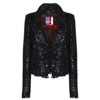 Sequin Tweed Jacket