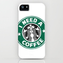 STARBUCKS - I need a coffee! iPhone &amp; iPod Case by John Medbury (LAZY J Studios)