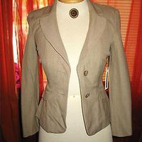 SEMANTIKS SUMMER BEIGE PINSTRIPES  LINED JACKET!S4P!NWT