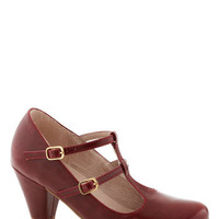 Fluent in Fabulous Heel in Red | Mod Retro Vintage Heels | ModCloth.com