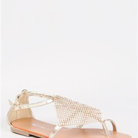 Nature Breeze KYLEE-11 Mesh Detailed Flat Sandal | Shop Shoes