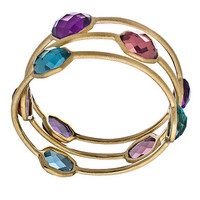 Urban Posh Three Stone Septagon Quartz Bangle - Max & Chloe