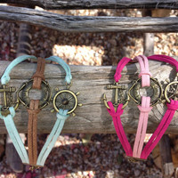 Three-piece Anchor, Life Ring and Helm Multi-Colour Bracelet