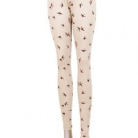 Swallow Bird Print Leggings  | New In | Highlights | WOMEN | Indie Clothes & Accessories