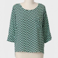Rena Curvy Plus Chevron Top at ShopRuche.com