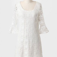 Gorgeous Day Lace Shift Dress In White at ShopRuche.com
