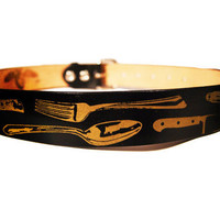 Chef Inspired Screen printed leather belt