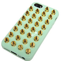 Felony iphone 5 case Spikes Mint Gold