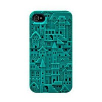 SwitchEasy SW-CHA4S-TU Avant-garde Hard Case for iPhone 4 & 4S - 1 Pack - Case - Retail Packaging - Chateau - Turquoise: Cell Phones & Accessories