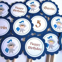 Knights Cupcake Toppers - Personalized -