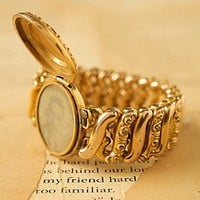 Vintage Gold Stretch Locket Bracelet at Free People Clothing Boutique