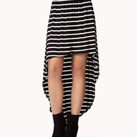 High-Low Striped Skirt