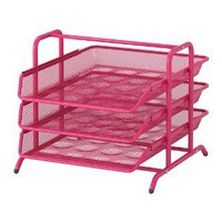 Ikea Dokument File Desk Organizer Pink Trays Steel