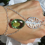 Nature Slave Bracelet, Ring Bracelet, Green Amethyst, Green, Leaf, Earthy, Bracelet, Woodland, Cottage Chic, Custom Sized, OOAK, One Of A Ki