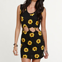 Kendall & Kylie Twisted Sunflower Cutout Dress at PacSun.com