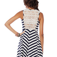 Papaya Clothing Online :: CROCHET BACK STRIPE DRESS