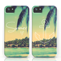 Summer Love & Anchor Vintage Beach iPhone Cases by RexLambo