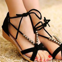 Ladies Cross Strap Wedge Heel Summer Sandals Shoes In BLACK from NaomiShu