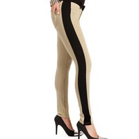Khaki/Black Tuxedo Knit Pants