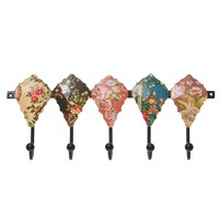 Set of 5 Floral Hooks