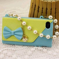 Leather Handbag Phone Case PU Bag Cover for iphone 4 / 4s