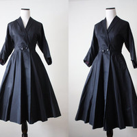 1950's coat - 50s princess coat