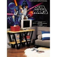 Star Wars Chair Rail Mural | Home Living | SkyMall