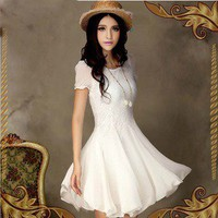 wwwbeautycall  Bud silk chiffon dress-KK