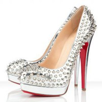 Starry Alti Spikes 160Mm Silver Pumps - Official Starry Website