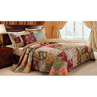 Antique Chic 5-piece Full/ Queen-size Quilt Set | Overstock.com