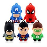 Amazon.com: 5pcs* 64gb USB 2.0 Stick Flash Pen Drive Super Men Model Stick Thumb Enough Memory (Avengers*5pc): Home & Kitchen