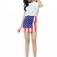 Starry Night — USA Flag Mini Skirt