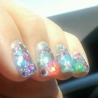 Cotton Candy - Glitter Nail Lacquer / Polish - FULL SIZE