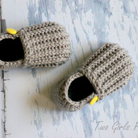 Crochet Pattern for &#x27;Jake&#x27; Loafers - Toddler Sizes 4-9 - Crochet Pattern number 115