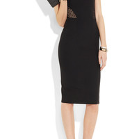 Victoria Beckham | Broderie anglaise-paneled silk and wool-blend dress | NET-A-PORTER.COM