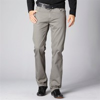 Pure Cotton Twill Straight Cut 5-Pocket Style Trousers