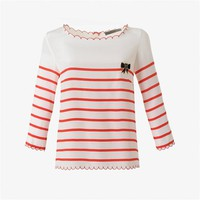 MADAME A PARIS Silk Crêpe-de-Chine Fisherman-Style Blouse