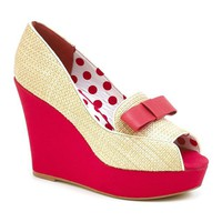 MADAME à PARIS Wedge Heel Open Toe Moccasins