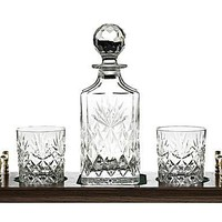IL GRANDE GATSBY: set Whisky in cristallo Kintyre Prestige Collection - 4 pezzi