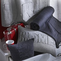 Fleece 'Home' Throw, 3 Colours, Machine Washable