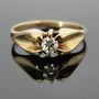 Antique Belcher Ring, Victorian Floating Diamond Ladies or Mens RGDI312D
